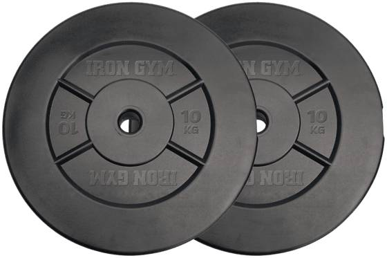 Iron Gym Treenivarusteet Iron Gym Plate Set 2x10kg BLACK (Sizes: One size)