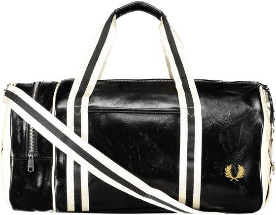 Fred Perry Classic Barrel Bag Laukut BLACK/ECRU (Sizes: One size)