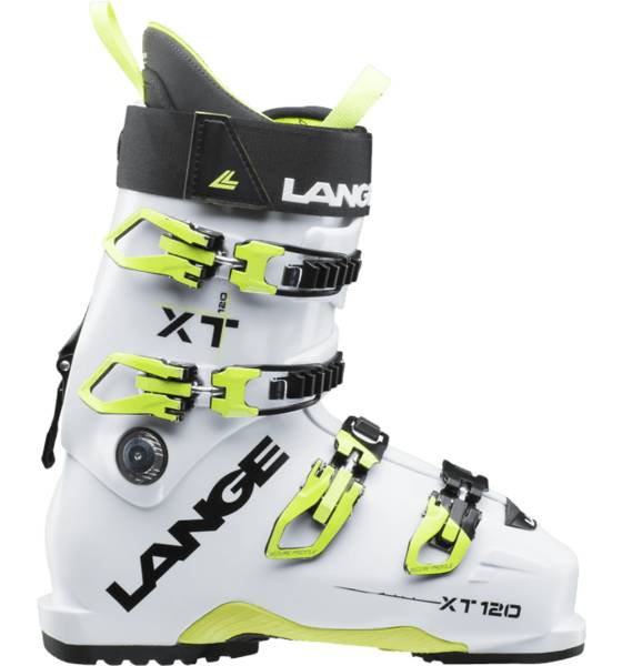 Lange Laskettelumonot Lange Xt 120 WHITE/YELLOW FLUO (Sizes: 25.5)