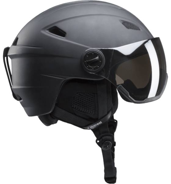 Everest Laskettelukypärät Everest U Visor Helmet BLACK/SILVER (Sizes: 58-61)
