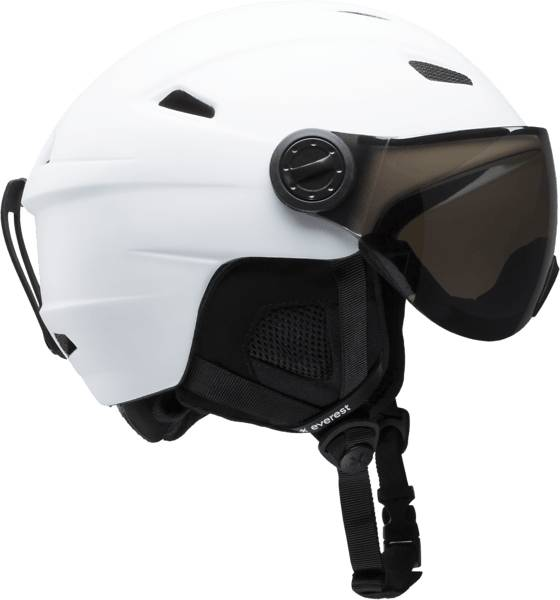 Everest Laskettelukypärät Everest U Visor Helmet WHITE/SILVER (Sizes: 54-57)
