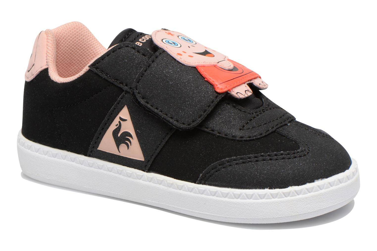 Le Coq Sportif - Tacleone Inf ANIMAL Face Girl by  -Tennarit Lapsille  / Musta