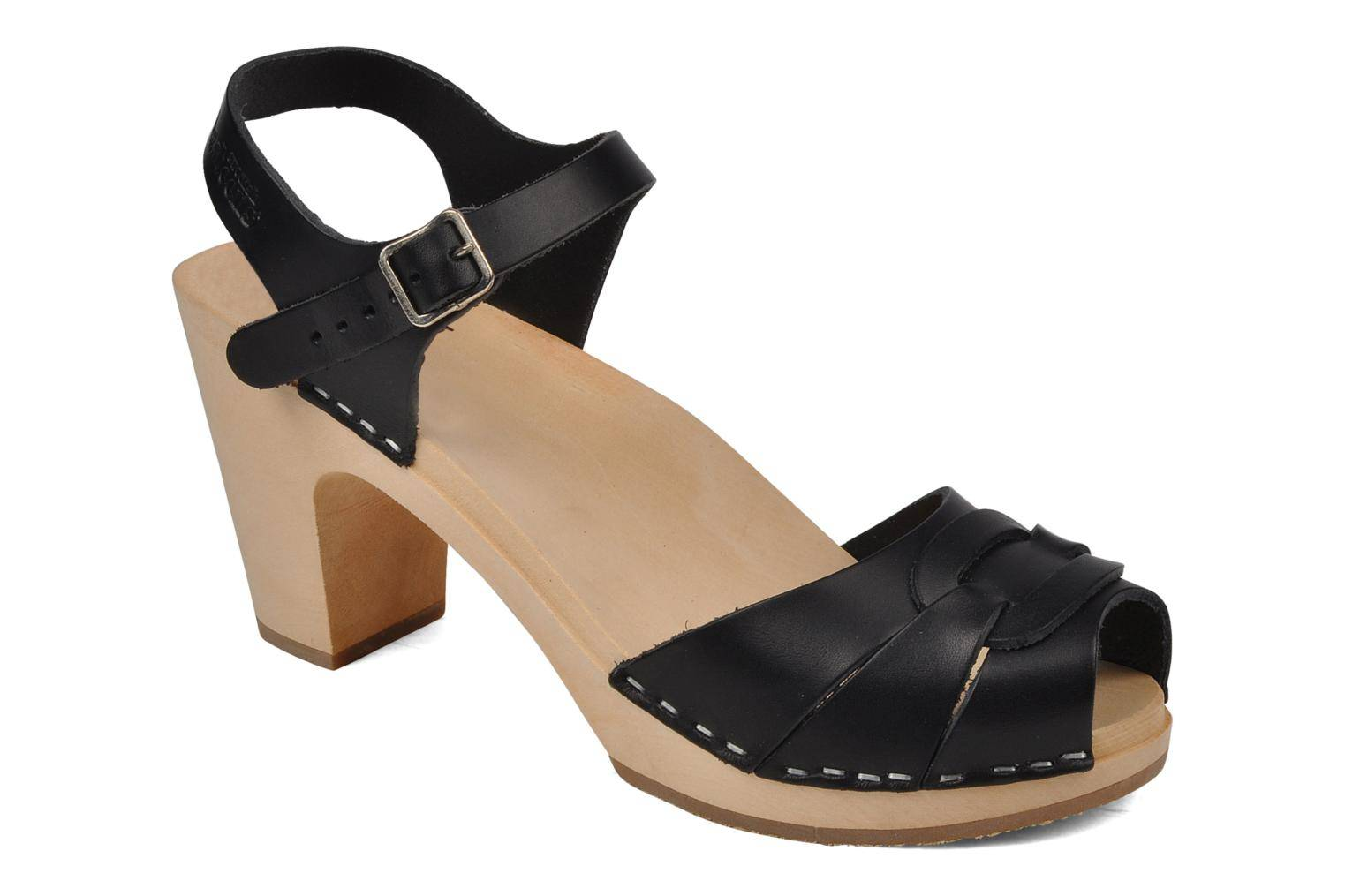 Swedish Hasbeens - Peep toe super high by  - Sandaalit Naisille  / Musta