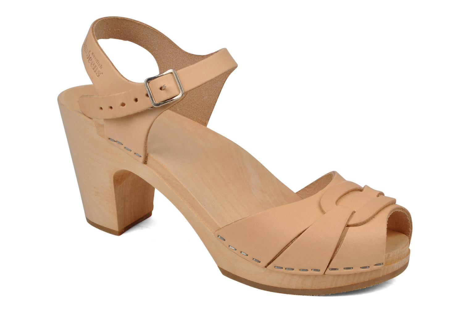 Swedish Hasbeens - Peep toe super high by  - Sandaalit Naisille  / Beige