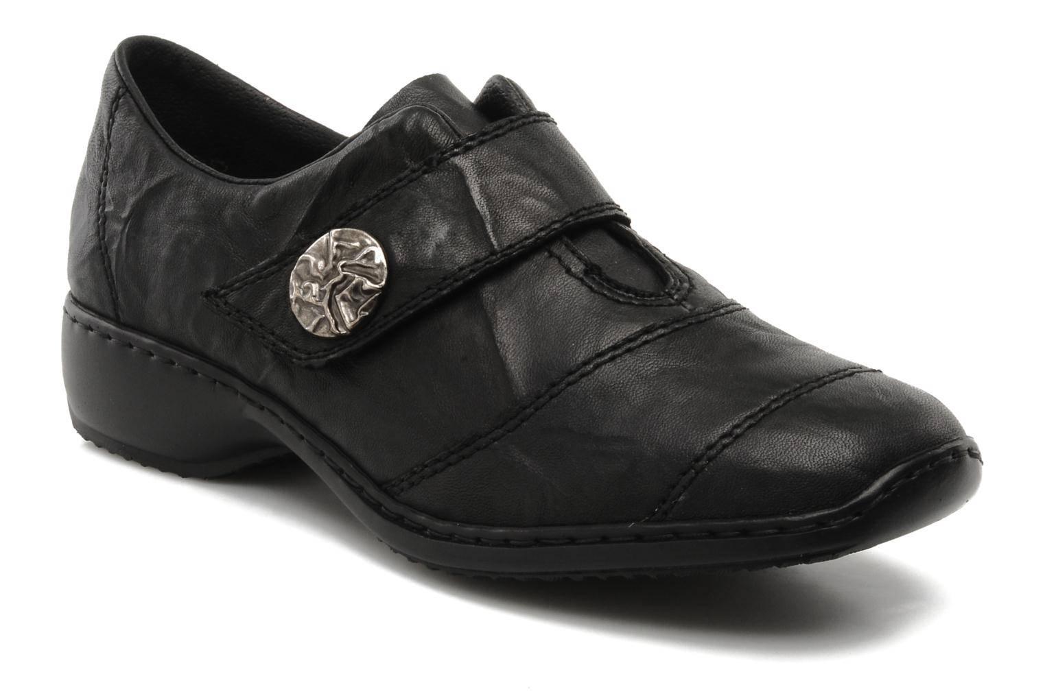 Rieker - Dips L3871 by  - Loaferit Naisille  / Musta