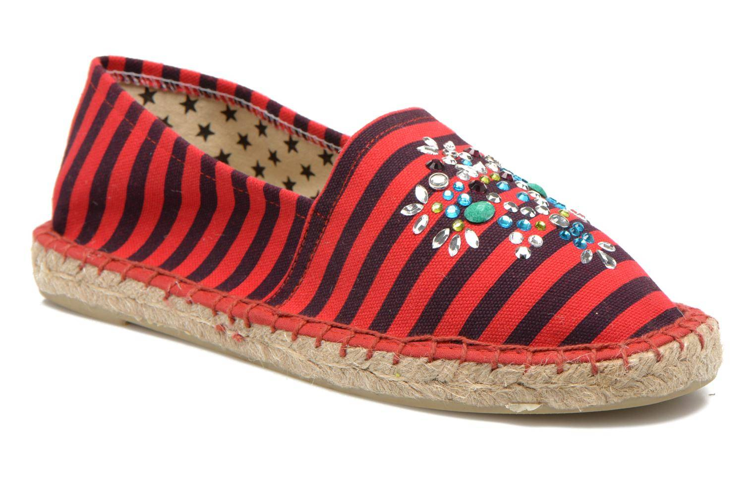 Colors of California - Poshpadrille rayure by  - Espadrillot Naisille  / Punainen