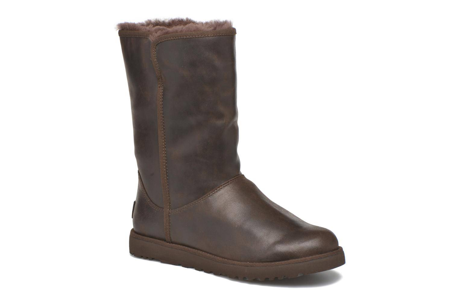 UGG - W Michelle Leather by  - Nilkkurit Naisille  / Ruskea
