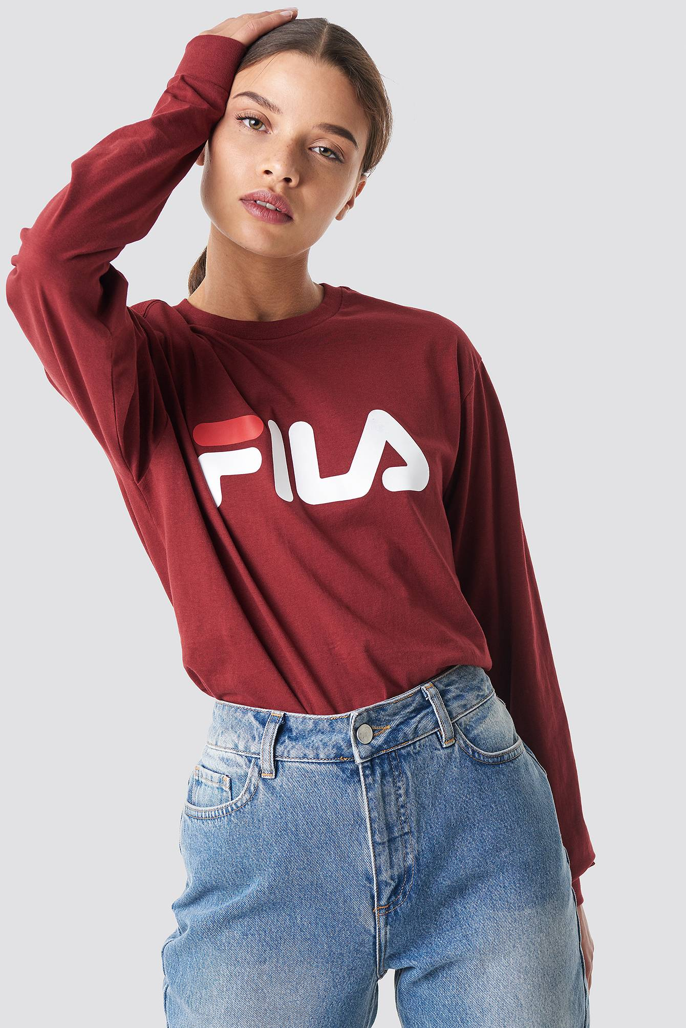 FILA Classic Pure Long Sleeve Shirt - Red