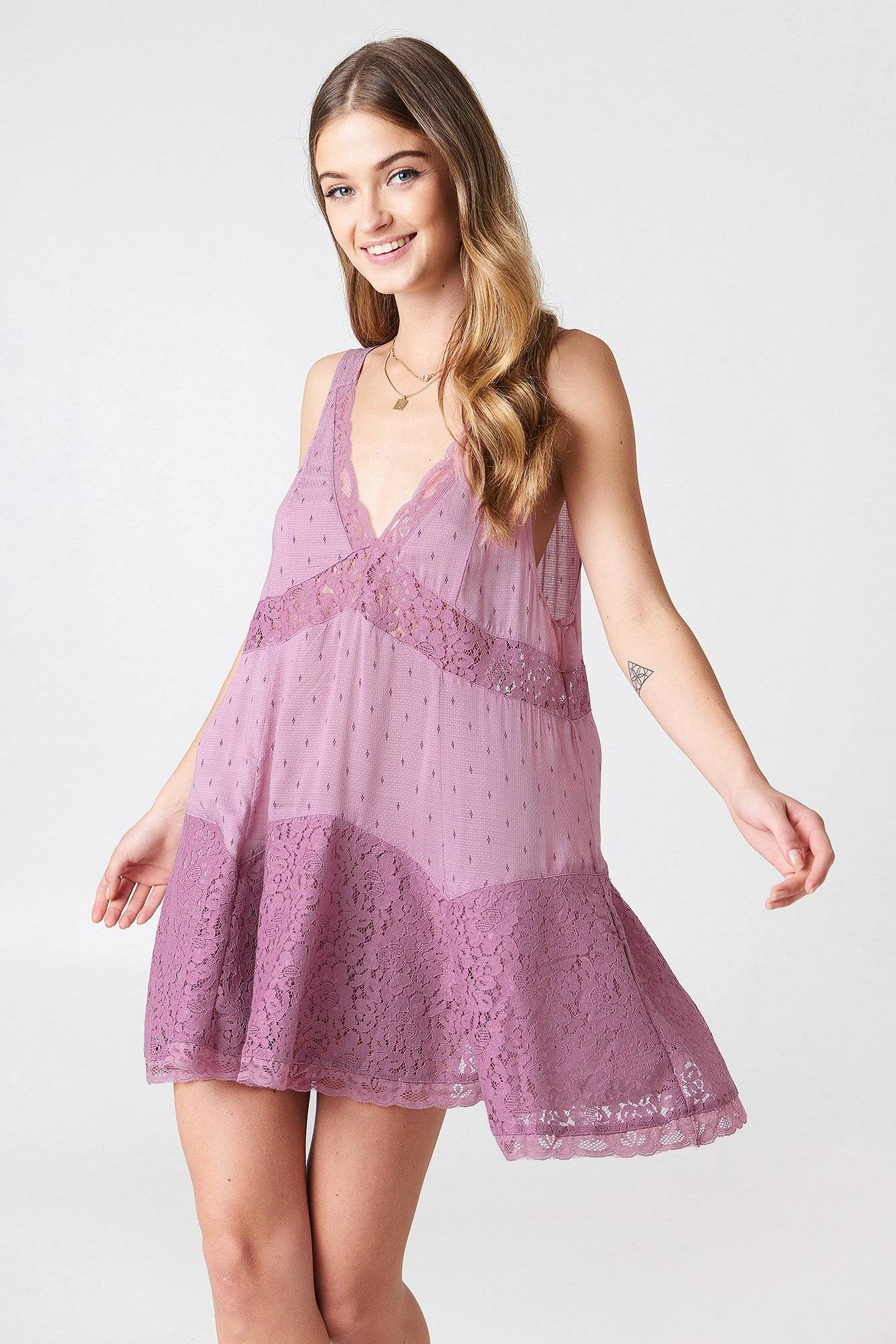 Free People Any Party Slip Dress - Pink
