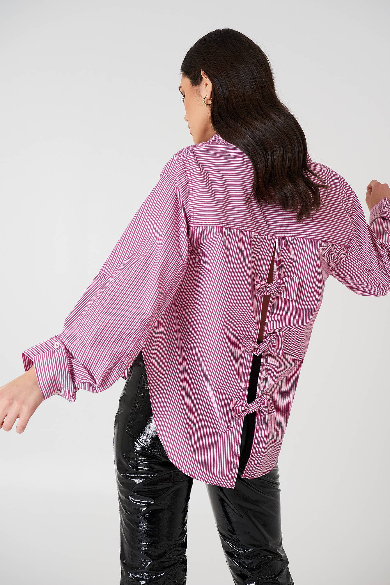 Free People Tie It In A Bow Shirt - Purple,Multicolor