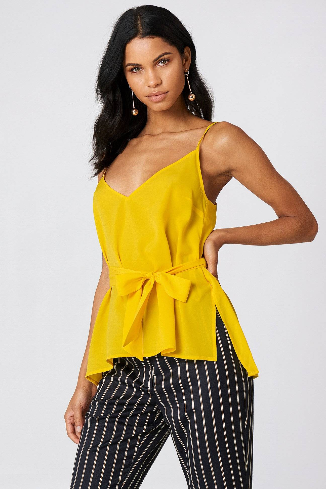 French Connection Dalma Strappy Top - Yellow