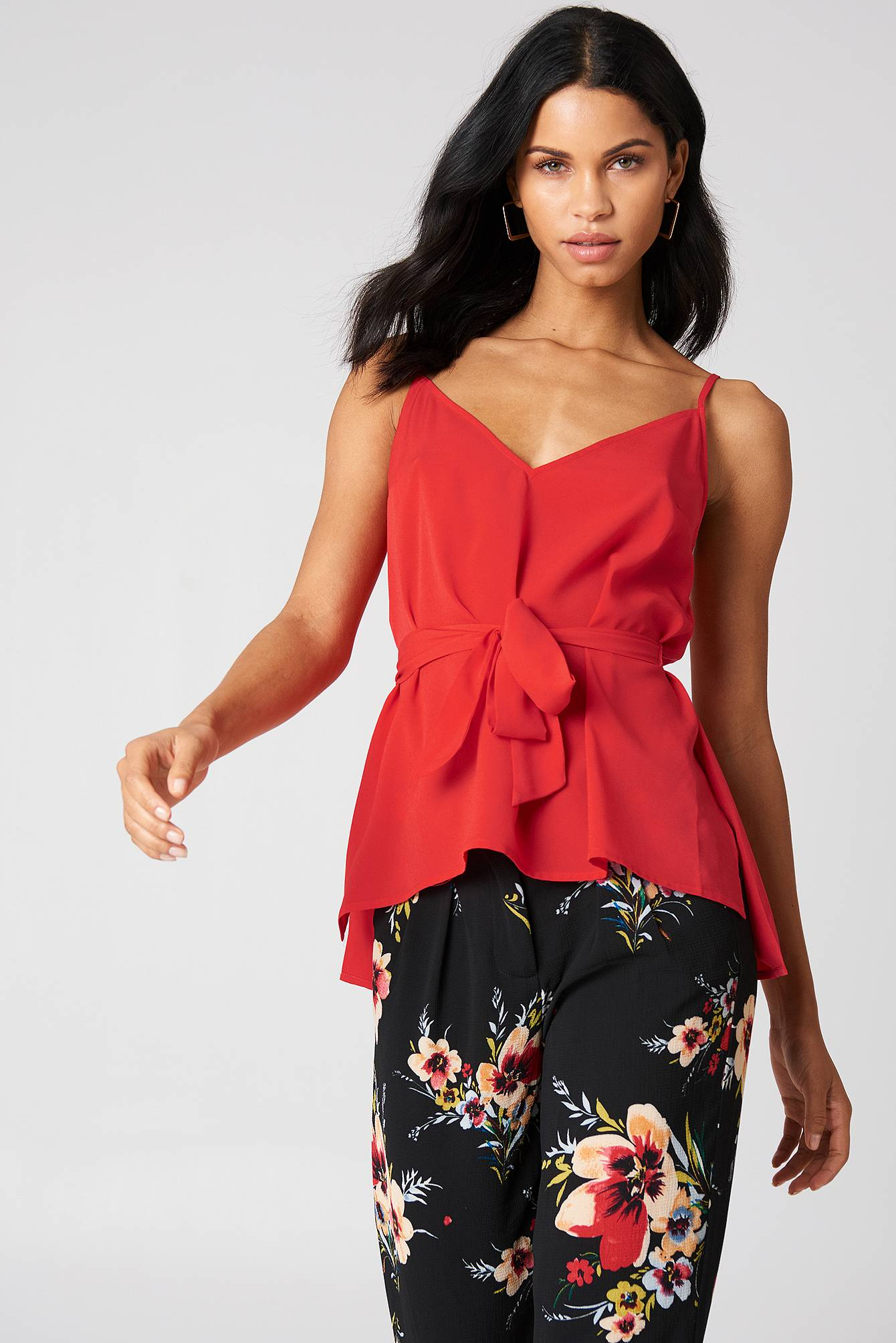 French Connection Dalma Strappy Top - Red