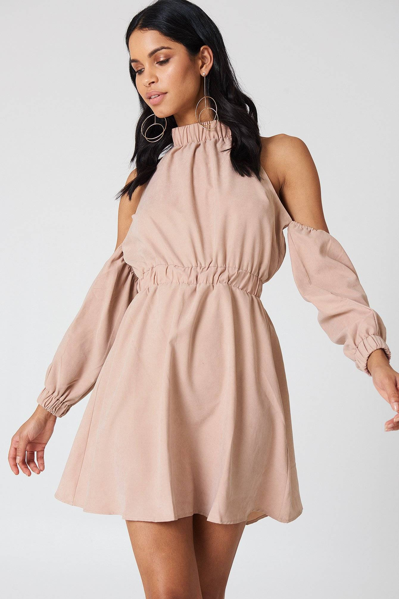 Lucca Couture Peyton Cold Shoulder Dress - Pink