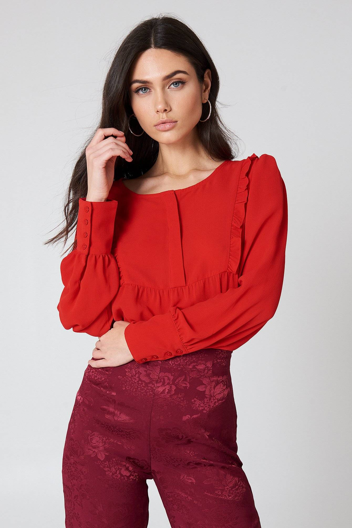 Rut&Circle Isabelle Blouse - Red