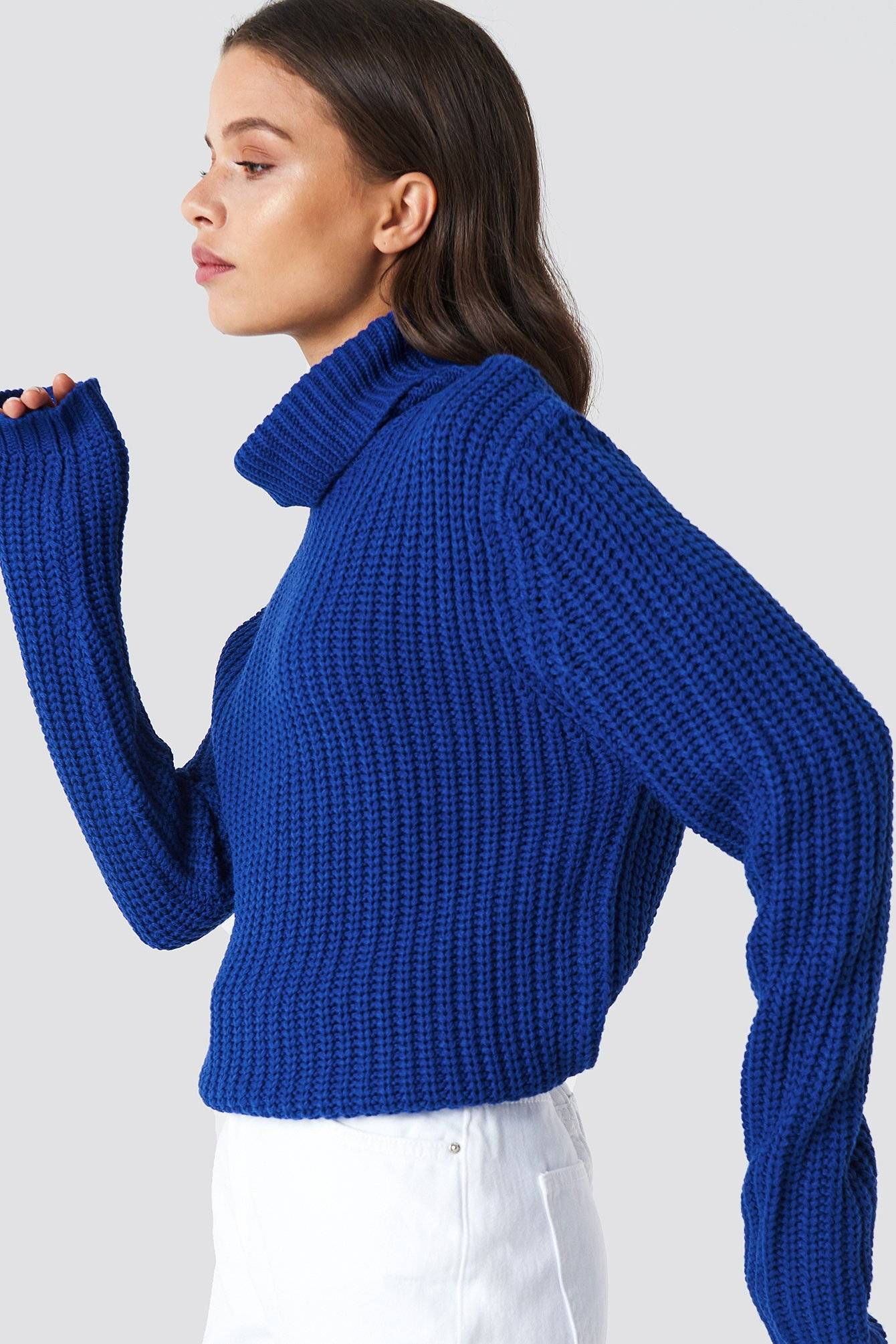 Rut&Circle Tinelle rollneck knit - Blue