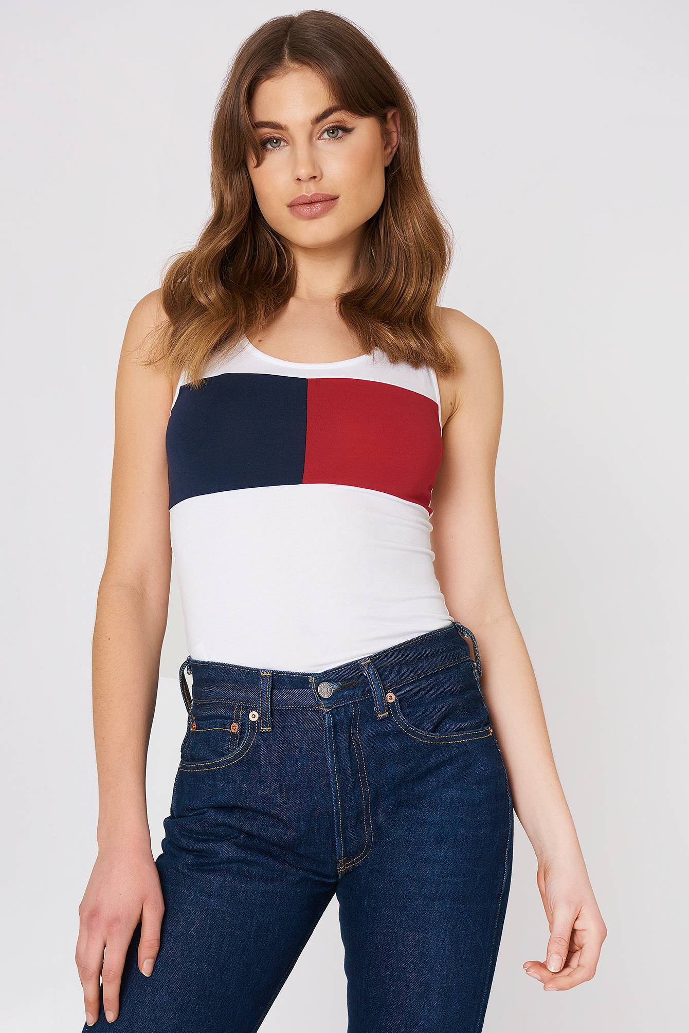 Tommy Hilfiger Tank Top - White,Multicolor