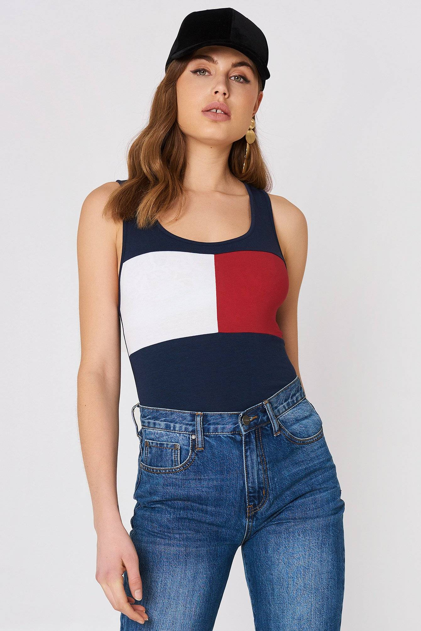 Tommy Hilfiger Tank Top - Multicolor,Navy