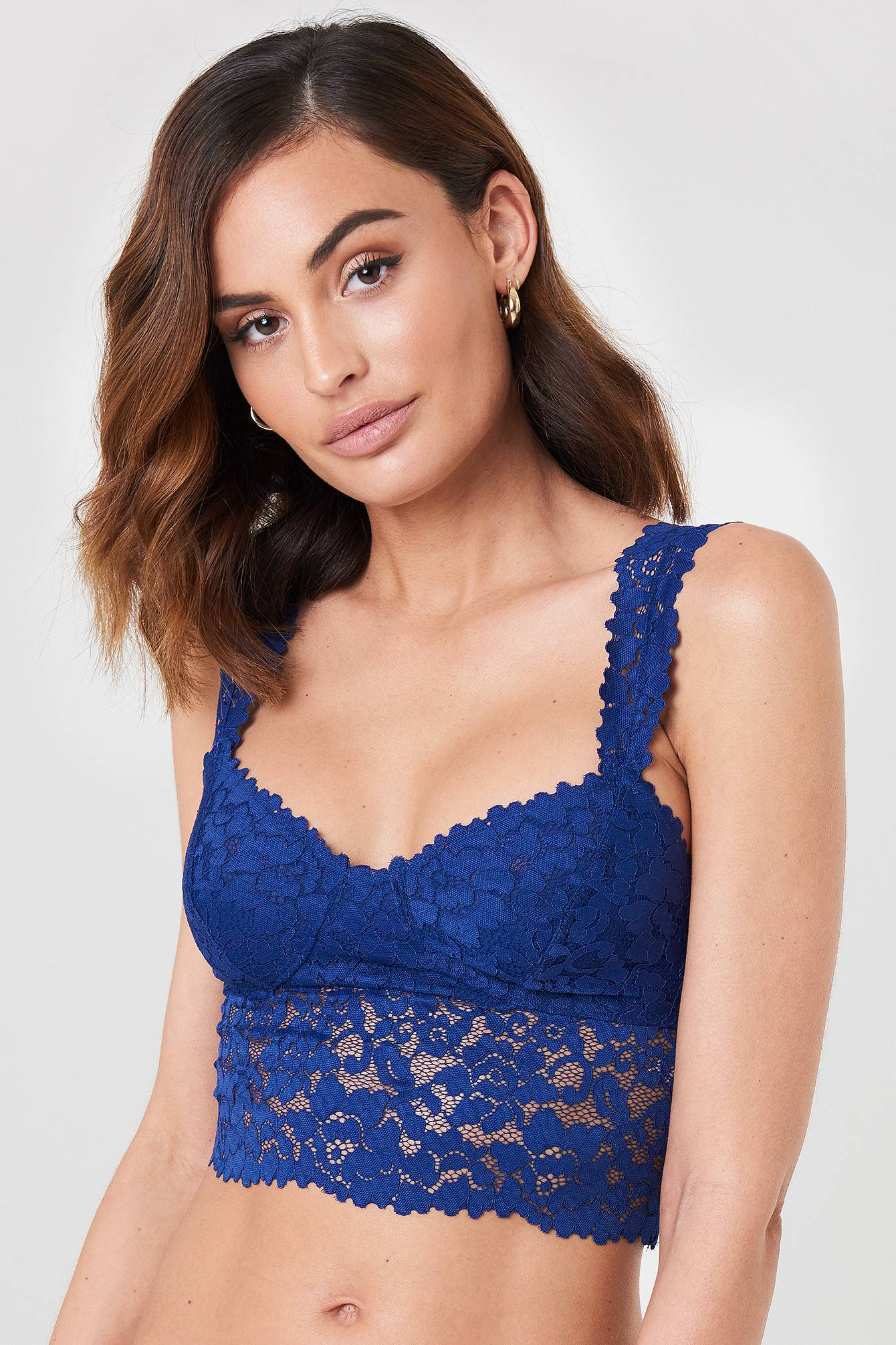 Free People Dream Away Lace Bra - Blue