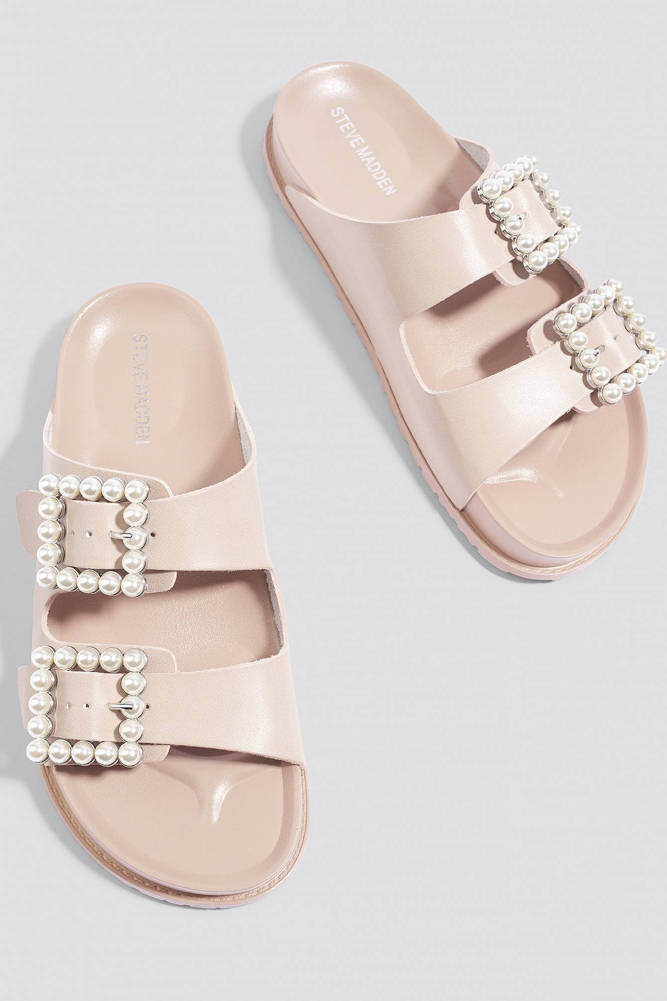 Steve Madden Luxely Flat Sandal - Pink,Nude