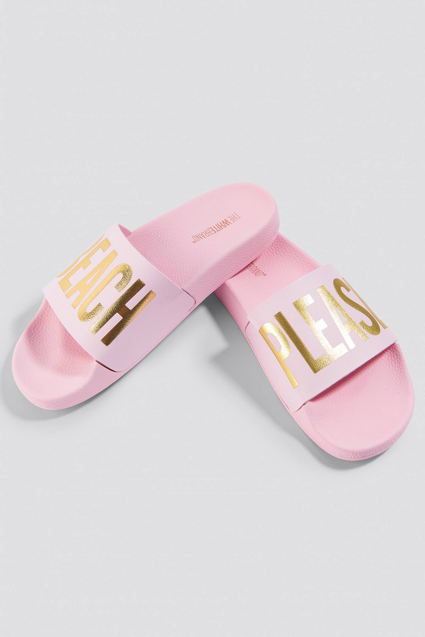 The White Brand Beach Slippers - Pink