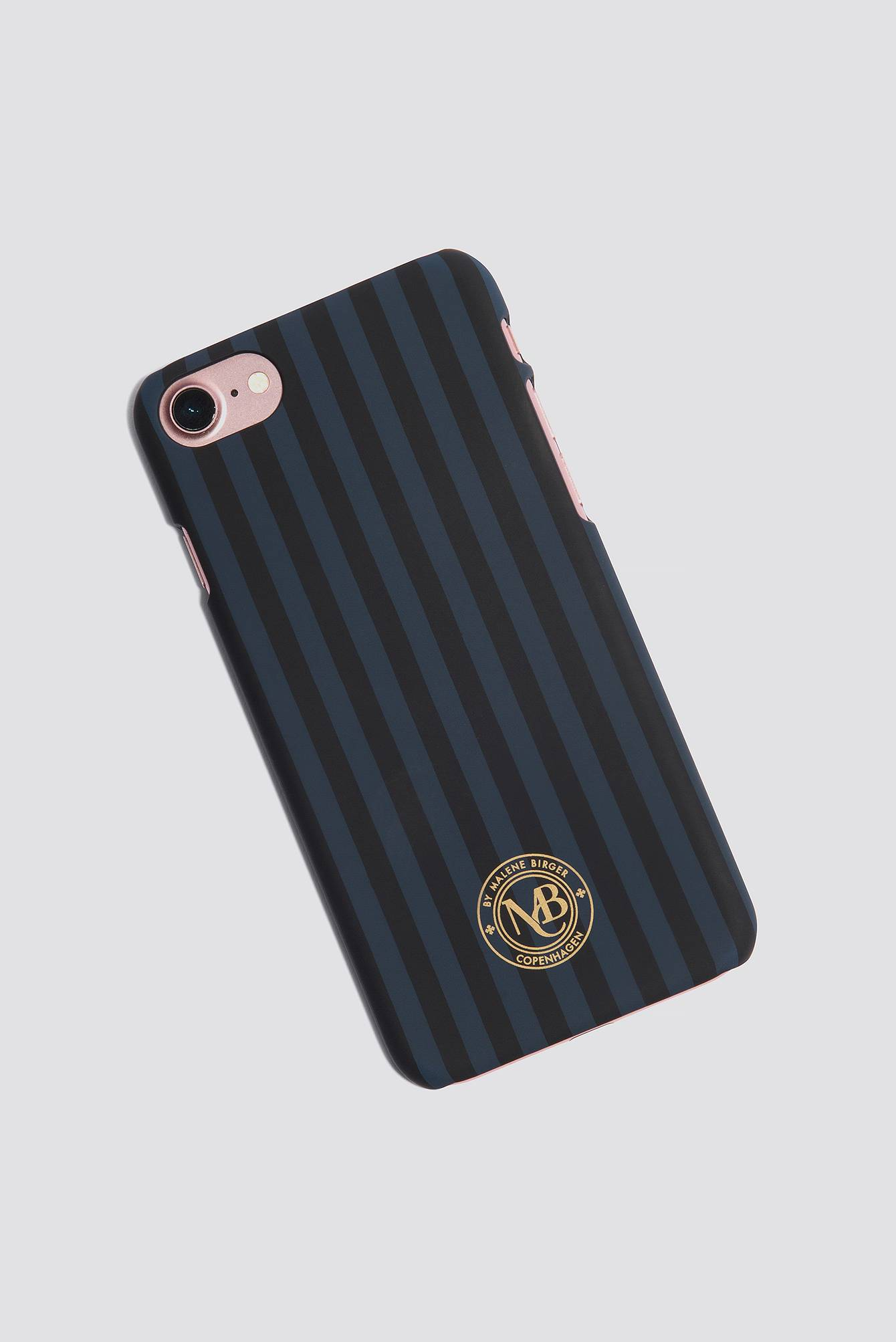By Malene Birger Pamsy Striped iPhone 7/8 Case - Black,Navy