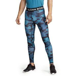 Björn Borg Aidan Tights, BB maxi camo blue, large