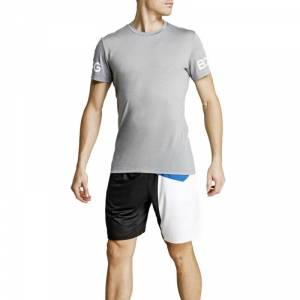 Björn Borg The Borg Tee, light grey melange, large