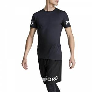 Björn Borg The Borg Tee, black beauty, medium