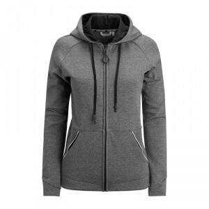 Björn Borg Deona Hooded Jacket, deep black melange, 38