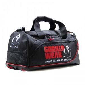 Gorilla Wear Jerome Gym Bag, black/red, Gorilla Wear