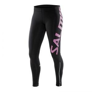 Image of Salming Running Tights Women, black/pink glo, Salming Sports