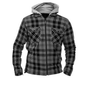 Twice MC Skjorta Frank, black/grey, xlarge