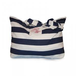 Marine Big Beach Bag, navy comb, Marine