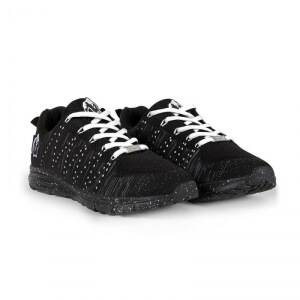 Gorilla Wear Brooklyn Knitted Sneakers, black/white, 43
