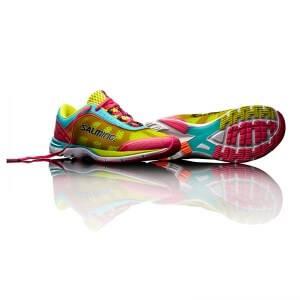 Salming Distance 3 Women, pink glo/turquoise, 38