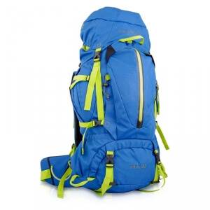 True North Trek 60 Hiking Backpack, blue, True North