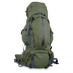 True North Trek 60 Hiking Backpack, green, True North