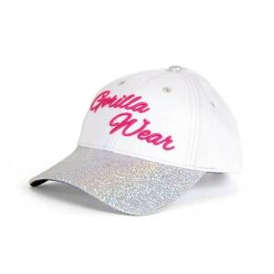 Gorilla Wear Women Louisiana Glitter Cap, white/pink, one size