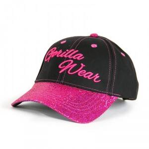 Gorilla Wear Women Louisiana Glitter Cap, black/pink, one size