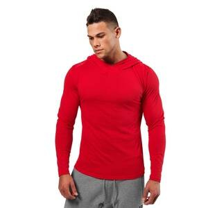 Better Bodies Mens Soft Hoodie, bright red, large