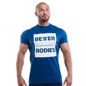 Better Bodies Casual Tee, navy, Better Bodies