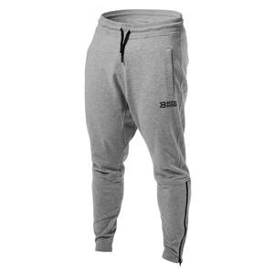 Better Bodies Harlem Zip Pants, grey melange, medium