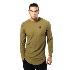 Better Bodies Harlem Thermal L/S, military green, xxlarge