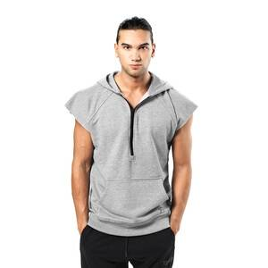 Better Bodies Harlem S/L Hood, grey melange, medium