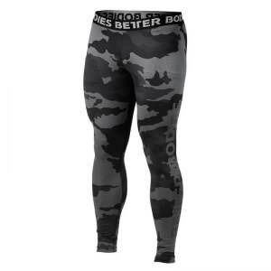 Better Bodies Hudson Logo Tights, dark camo, small
