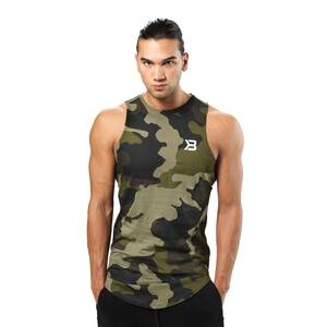 Better Bodies Harlem Tank, military camo, medium