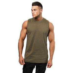 Better Bodies Bronx Tank, wash green, small