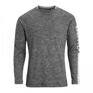 Bj�rn Borg Aaron Long Sleeve Tee, black beauty melange, xlarge