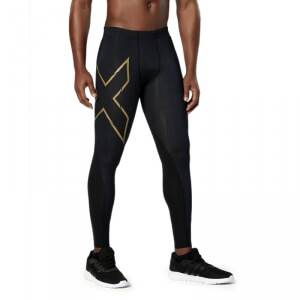 2XU Elite MCS Compression Tights, black/gold, medium