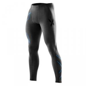 2XU Compression Tights, black/pacific blue, 2XU